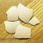 卵の殻を使ったクラッシュシェルもどき制作